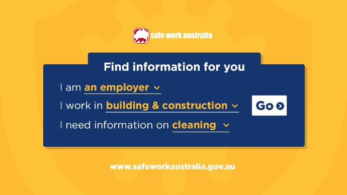 Screenshot of Safe Work Australia tool