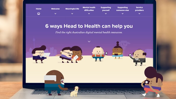 Screen shot of the Head to Health website
